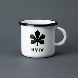 "Емальована кружка ""Київ"" біла, 400 мл"