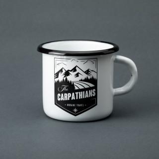 """Емальована кружка """"The Carpathians"""" біла, 400 мл"""
