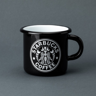 "Емальована кружка ""Starbucks"" чорна, 400 мл"